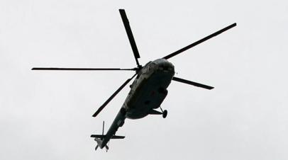 Вертолёт Ми-8 совершил вынужденную посадку в Красноярском крае