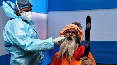 В Индии за сутки выявили более 16 тысяч случаев коронавируса