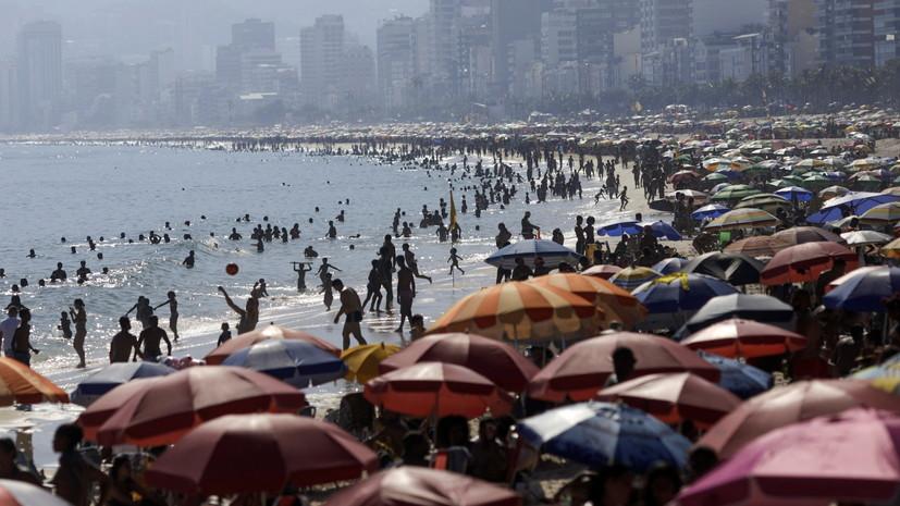 За сутки в Бразилии выявили более 35 тысяч случаев коронавируса