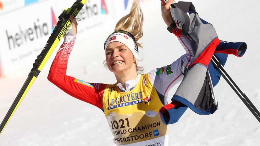 Йохауг — о победе в индивидуальной лыжной гонке на ЧМ: скольжение было лучшим в моей жизни