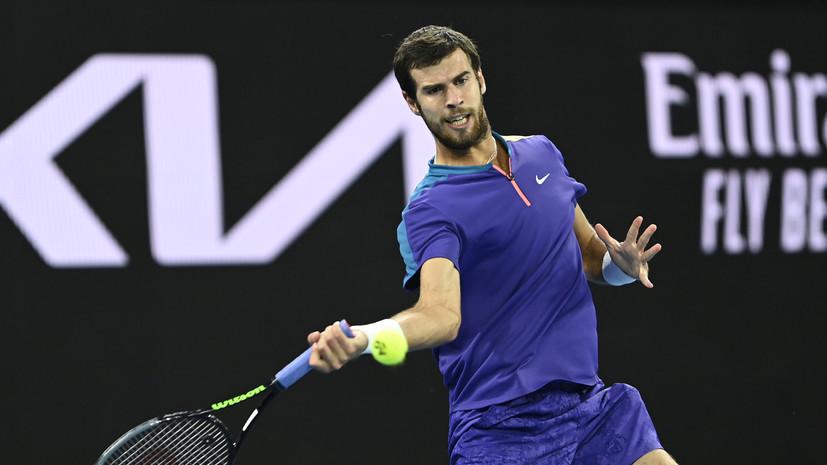 Хачанов обыграл Вавринку и вышел во второй круг турнира ATP в Роттердаме