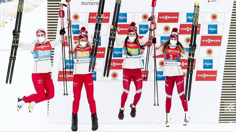 «Проигрывать нельзя было сегодня»: как российские лыжницы впервые за 16 лет завоевали серебро в эстафете на ЧМ
