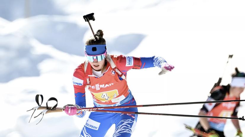 Российские биатлонистки опустились на восьмое место в эстафете из-за отмены дисквалификации украинок