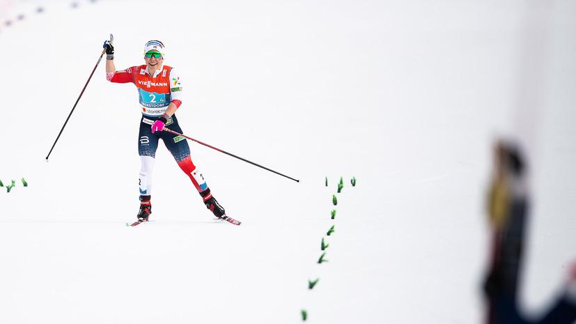 Норвежская лыжница удивилась победе в эстафете на ЧМ по лыжным видам спорта