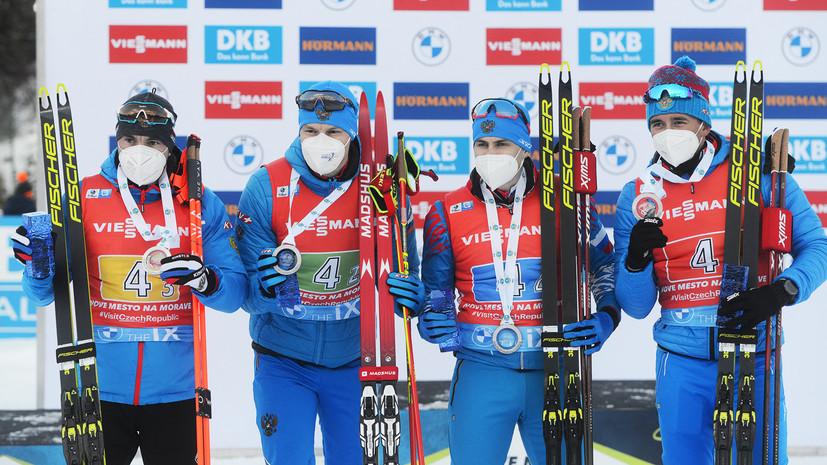 Серебряный финиш: как мужская сборная России по биатлону заняла второе место в эстафете на этапе КМ в Нове-Место
