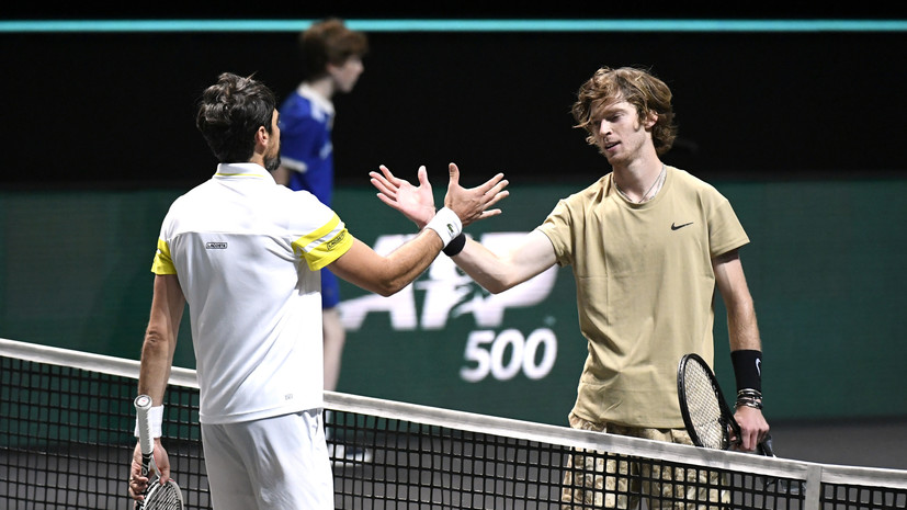 Теннисист Рублёв — о победе над Шарди: в концовке матча была драма
