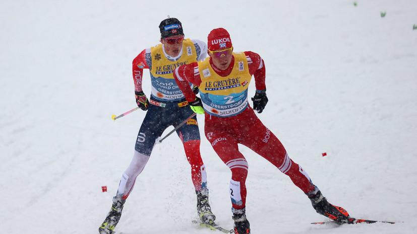 В Норвегии обвинили Большунова в попытке сломать палку Клебо во время эстафеты