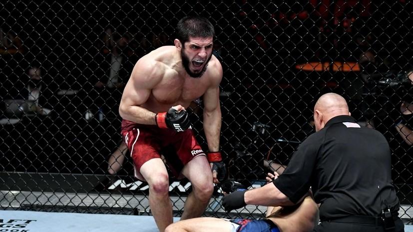 Удушение ручным треугольником и 15 минут доминирования: как Махачев и Аскаров одержали победы на UFC 259