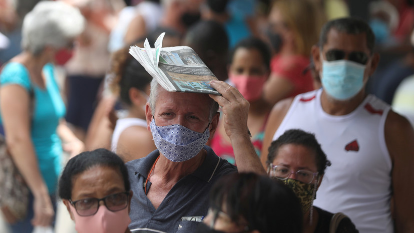В Бразилии за сутки выявили более 70 тысяч случаев коронавируса