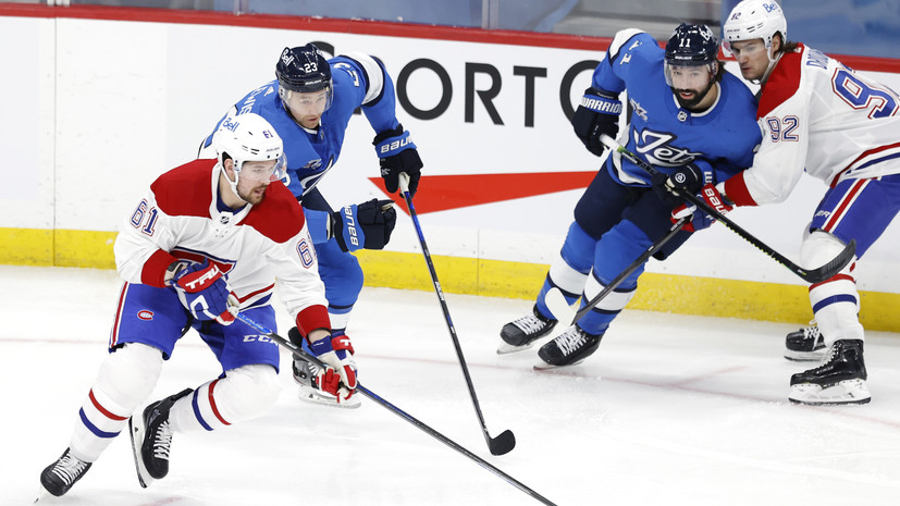 «Монреаль» с Романовым проиграл «Виннипегу» в матче НХЛ