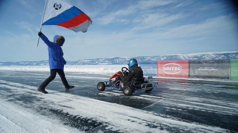 Российские картингисты установили два потенциальных рекорда скорости на льду