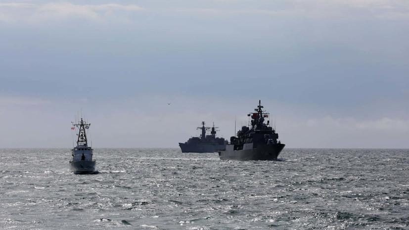 В Чёрном море прошли совместные учения кораблей НАТО и Грузии