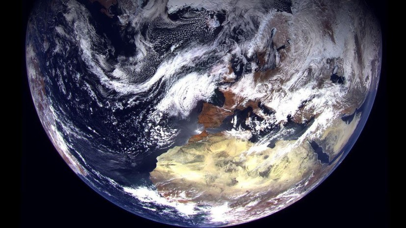 Рогозин опубликовал первые сделанные спутником «Арктика-М» фотографии