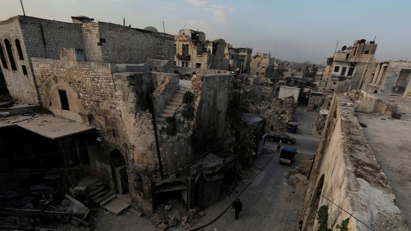 Террористы обстреляли реактивными снарядами районы в Алеппо