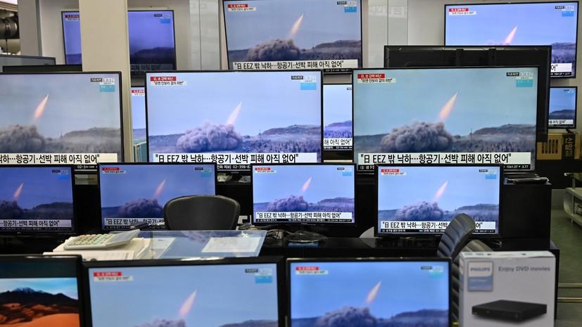 «Рёнхап»: в КНДР испытали новую тактическую управляемую ракету
