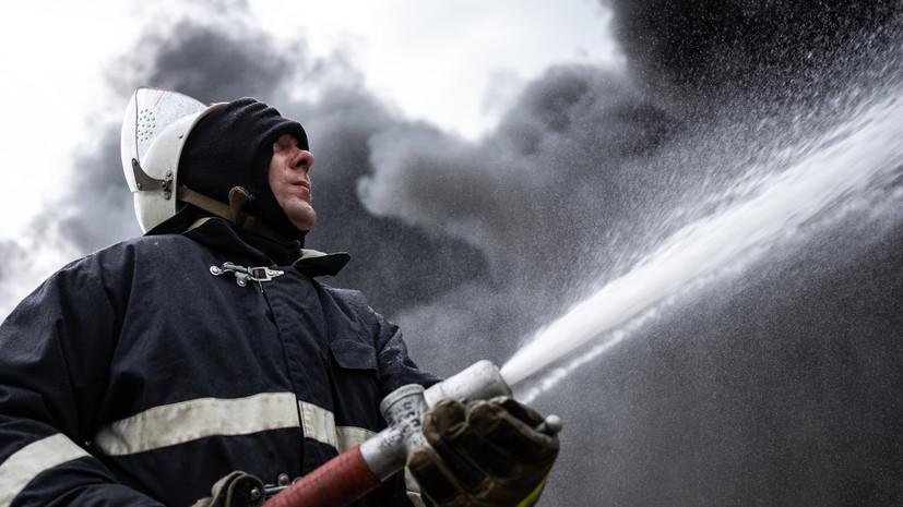 В строящемся частном доме в новой Москве взорвался газовый баллон