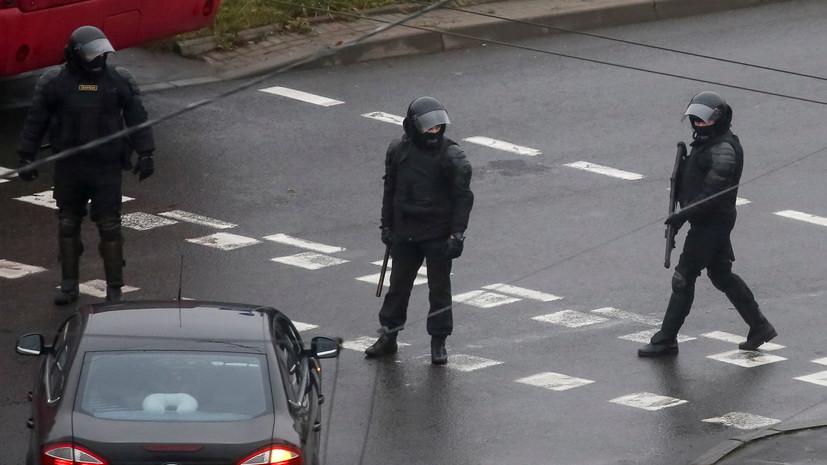 В ГУВД Минска сообщили о нескольких задержаниях на незаконной акции