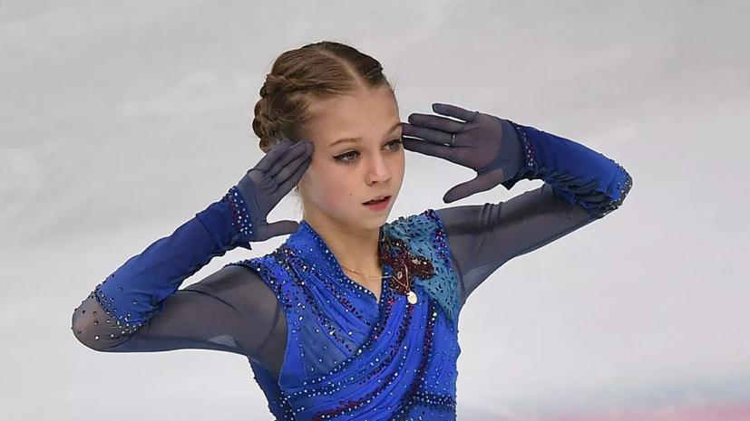 Трусова поблагодарила Плющенко за поддержку во время ЧМ