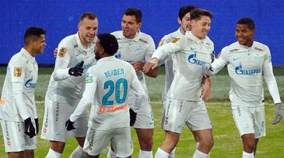 Футболисты «Зенита» в матче 23-го тура РПЛ с ЦСКА