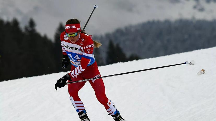 Истомина выиграла марафон на ЧР по лыжным гонкам