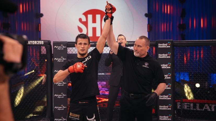Двукратное преимущество по ударам, поддержка Хабиба и никакой борьбы: Усман Нурмагомедов успешно дебютировал в Bellator