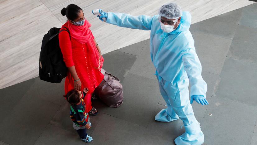 В Индии за сутки выявили более 93 тысяч случаев коронавируса
