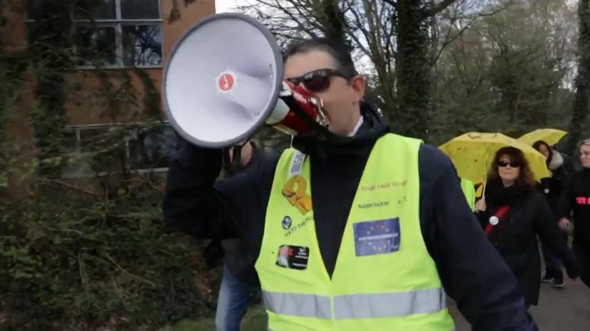 60698d48ae5ac94df37ddaab Барабанный бой и стычки с полицией: как в Европе протестуют против антикоронавирусных ограничений
