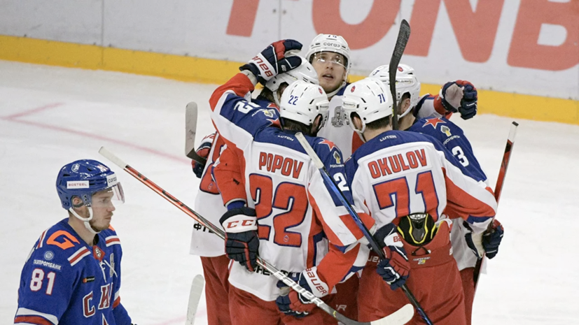 ЦСКА одержал третью победу над СКА в финале Западной конференции КХЛ