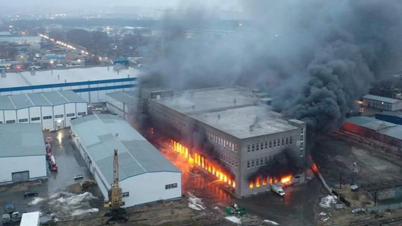 Площадь пожара в Люберцах возросла до 6000 квадратных метров