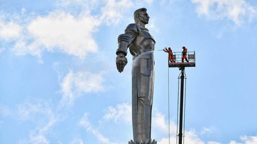 До конца апреля в Москве промоют более тысячи памятников
