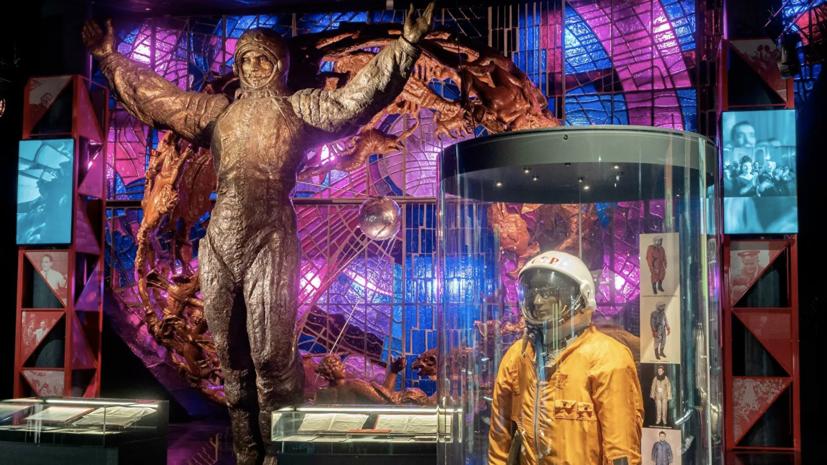 Собянин открыл выставку «Первый» в Музее космонавтики