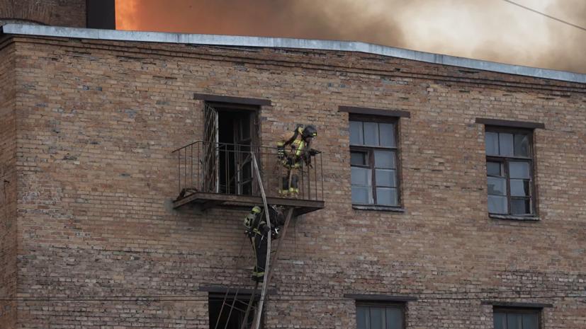 СК возбудил уголовное дело по факту пожара на Невской мануфактуре