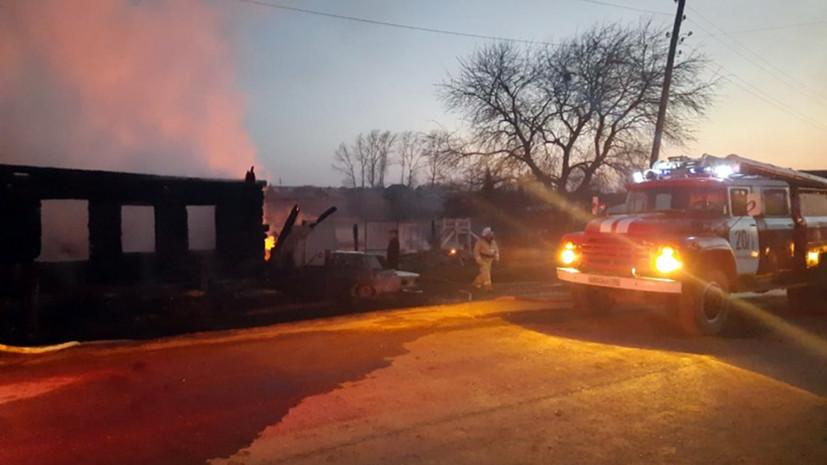 В МВД рассказали о пожаре в частном доме на Урале