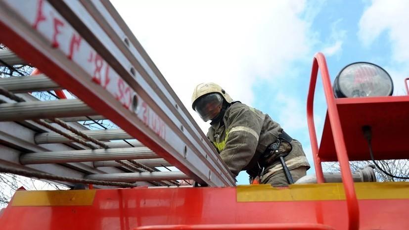 В Тамбовской области произошёл пожар в здании вагонного депо