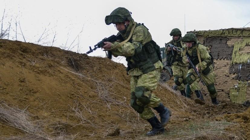 Военнослужащие ЮВО приняли участие в учениях в Крыму