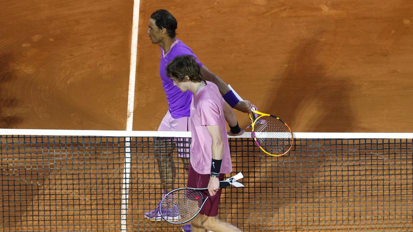 Рублёв стал вторым российским теннисистом, победившим Надаля на грунте