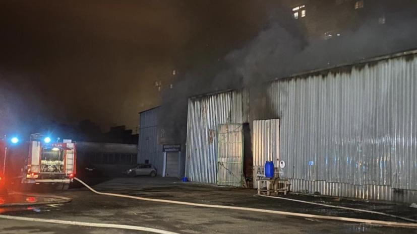 На складе в Королёве произошёл пожар