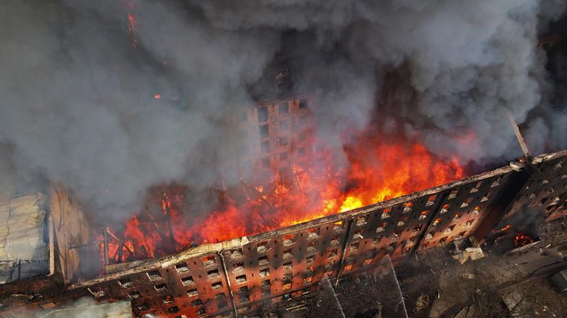 Пожар на Невской мануфактуре в Петербурге полностью ликвидирован