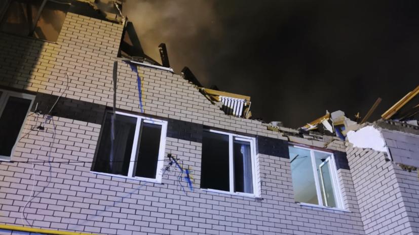 Открытое горение в доме в Нижегородской области, где взорвался газ, ликвидировано