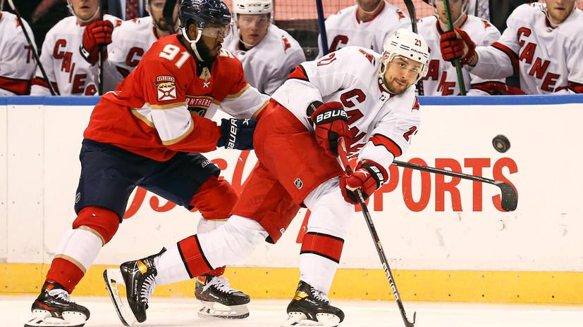 «Флорида» уступила «Каролине» в матче НХЛ, Гусев отметился результативной передачей