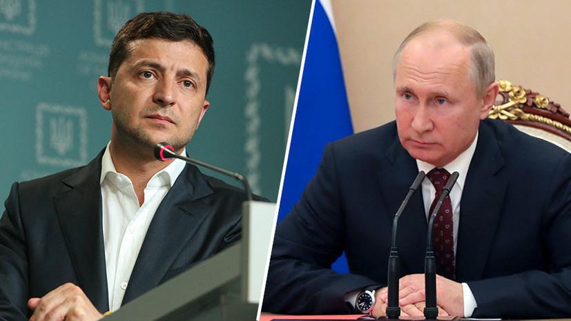 Песков назвал темы возможной беседы Путина с Зеленским