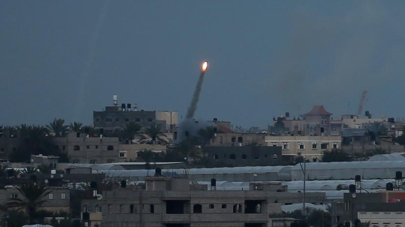 Израиль заявил о запуске трёх ракет из сектора Газа