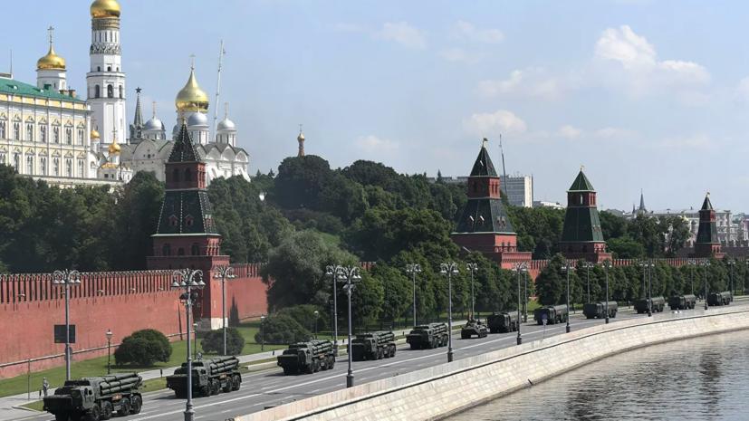 В Москве ограничат движение транспорта из-за репетиции парада Победы