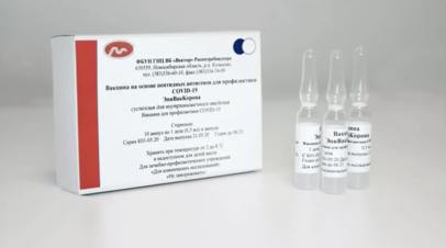 Вакцина ЭпиВакКорона начала поступать в медучреждения России