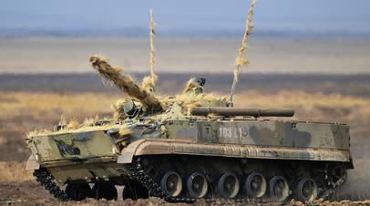 БМП-3 на командно-штабных учениях «Кавказ-2020»
