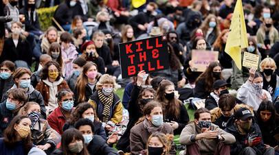Протест под лозунгом Kill The Bill в Лондоне, 3 апреля 2021
