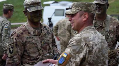 Военнослужащие Украины и США на учениях Rapid Trident 2018