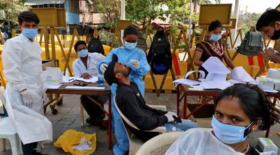 В Индии за сутки выявили более 115 тысяч случаев коронавируса