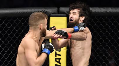 Бойцы UFC Келвин Каттар и Забит Магомедшарипов