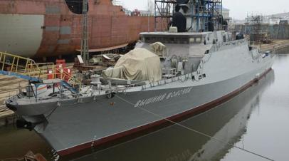 Корабли Грайворон и Вышний Волочёк провели стрельбы в Чёрном море